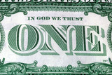 In God We Trust Motto s on the reverse of a US Dollar Bill poster