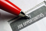 Job Opportunity Classified Advertising with Red Pen poster