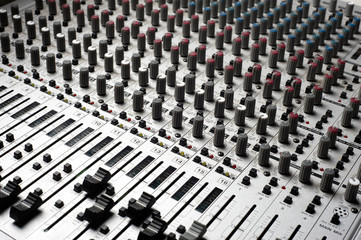 Audio recording equipment or soundboard background