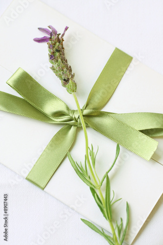 sealed letter with lavender decoration