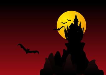 Spooky halloween castle