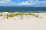 Fototapety Beautiful white sand dune beach by ocean