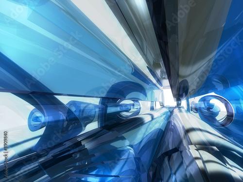 Fototapeta machine transparente