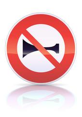 Signaux sonores interdits (reflet métal)