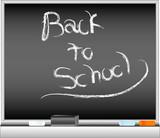 school blackboard vector poster