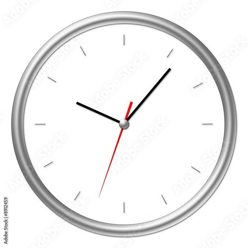 Leinwanddruck Bild Uhr