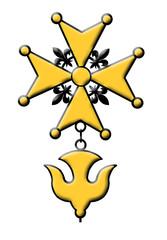 Hugenottenkreuz Hugenotten Kreuz Gold Relief