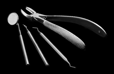 photo of tools in dental surgery