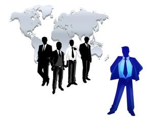 international worker business team