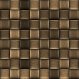 Weaved Basket Abstract Background Texture in Brown Lines poster