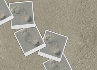 Camminata sulla sabbia (Polaroid Collage)