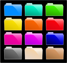 Colourful Icon Folders