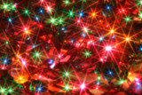 colorful twinkling christmas lights blurred background poster