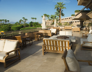 Luxury Resort Balcony with Couches
