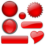 Miscellaneous Red buttons poster