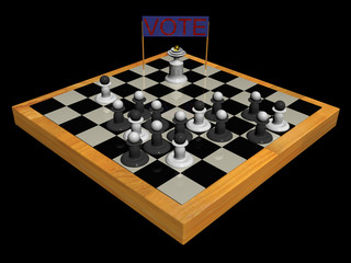 The Candidate Addresses to Pawns.
