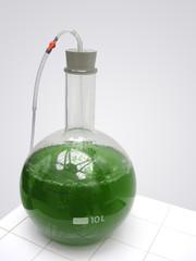 flacon chimie vert