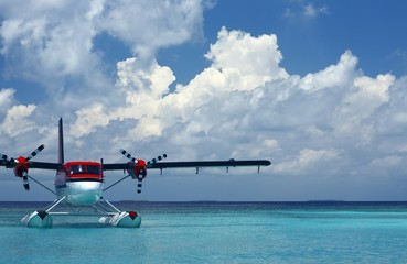 seaplane on a water