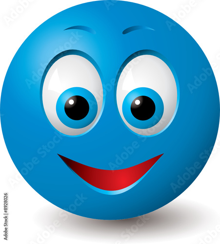 cute pics of smiley faces. Vector: Happy blue smiley face