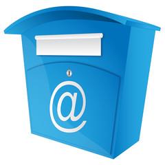 E-Mail - Briefkasten blau