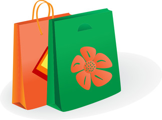 Shopping bags. Vector illustration
