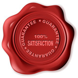 wax seal with text: guarantee poster