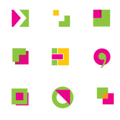 Set of geometric elemets for logo design 1