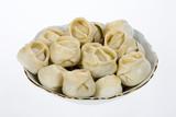 Traditional Asian meat dumplings called
