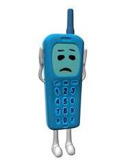 blue sad mobile