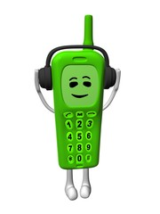 green mobile phone
