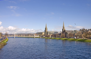 Inverness and river Ness
