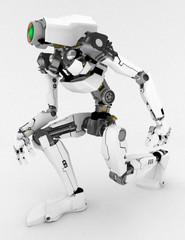 Slim Robot, on one knee