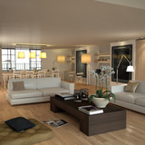 Beige contemporary interior