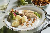 Chicken Breasts with Mushroom Cream Sauce and Semolina Dumplings poster