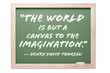 Quote on Chalkboard Isolated on a White. Contains clipping path.