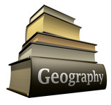 education books geography poster