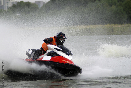 Staande foto Water Motorsp. High-speed jetski
