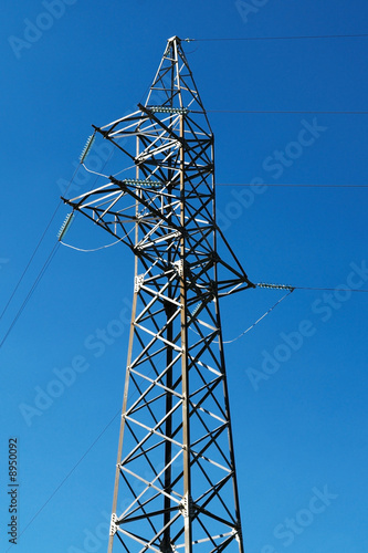 Steel electric pole