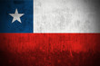 Weathered Flag Of Republic of Chile, fabric textured..