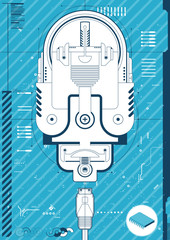Stylised illustration of a Cd Player