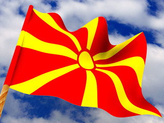 Flag. Macedonia. 3d