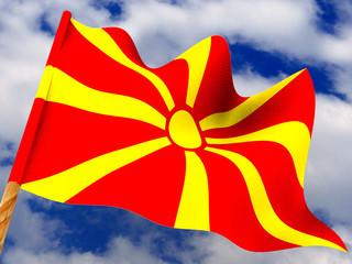 Flag. Macedonia. 3d