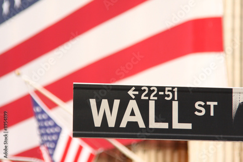 New-York, plaque Wall Street