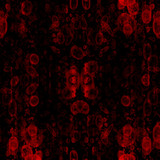 Intense cluttering of blood cells on a dark background poster