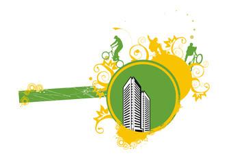 ilustration de ciudad en vector