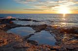 Paesaggio marino al tramonto poster
