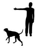 Hundetraining (Obedience), Befehl links! poster