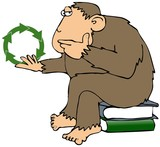 Recycling Ape poster