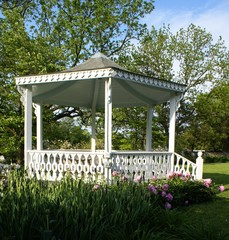 White Gazebo Close-up