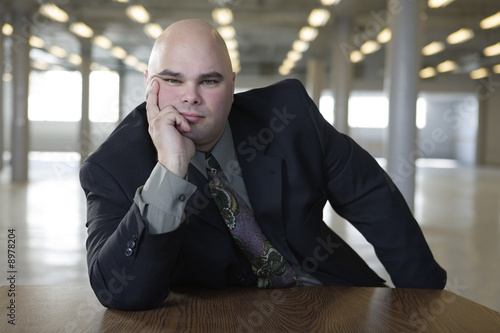 Portrait of a businessman looking.